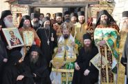Στο Άγιον Όρος, στην καλύβη Αγίου Ιωάννου Χρυσοστόμου, Σκήτεως Κουτλουμουσίου 26-11-2009